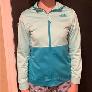 North Face Teal Zippered Jacket